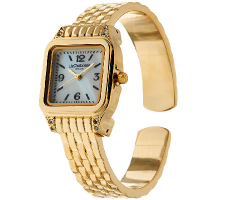 Liz Claiborne New York Metal Link Bangle Watch