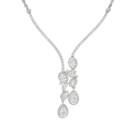 Judith Ripka Sterling 5.55 cttw Diamonique Necklace