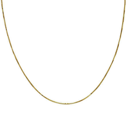 "EternaGold 24"" 058 Solid Box Chain Necklace, 14 K Gold, 3.3g"