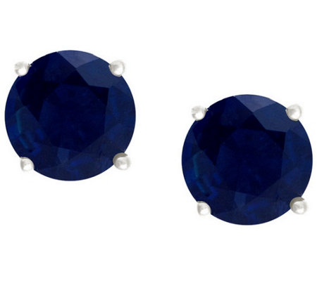 Premier 1.00 cttw Sapphire Stud Earrings, 14K G old