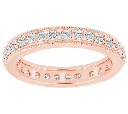 Diamond Eternity Milgrain Band Ring, 14K, by Affinity
