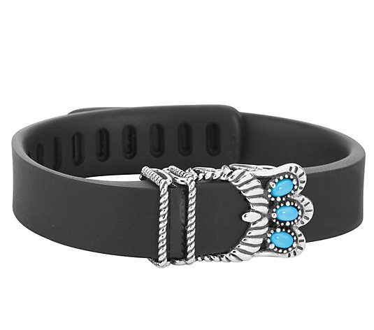 American West Sterling Turquoise Fitbit Flex Accessory