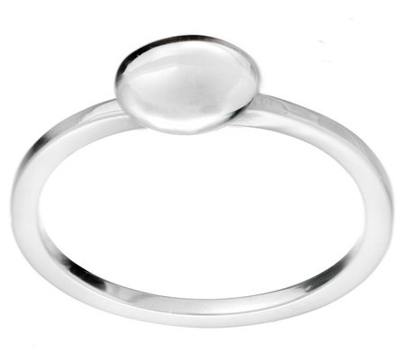Hagit Sterling Polished Oval Bead Ring