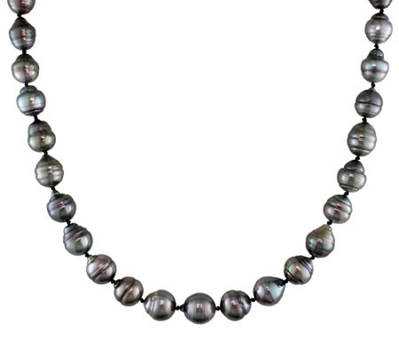 Graduated Cultured Tahitian Pearl Baroque Necklace, 14K