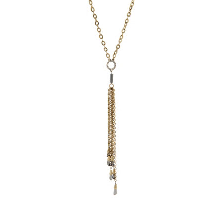 "Joan Rivers 37"" Toggle Necklace with Beaded Tassel"