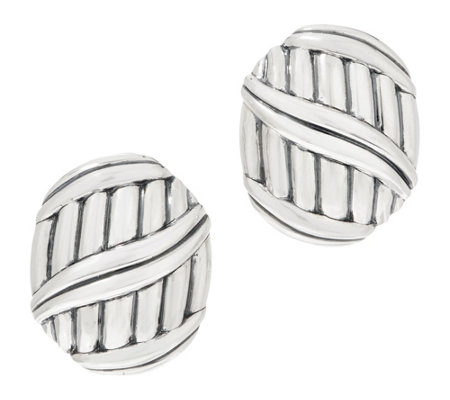 Peter Thomas Roth Sterling Silver Shield Earrings