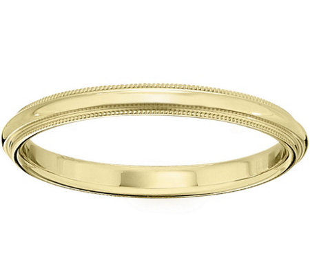 Men's 14K Yellow Gold 2.5mm Milgrain Wedding Band