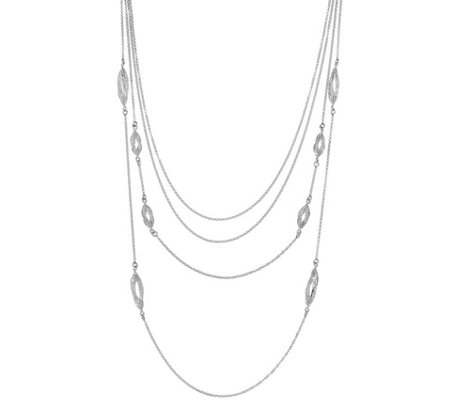 Sterling Multi-strand Filigree Necklace, 23g by Silver Style