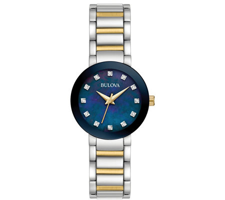 Bulova Women's Stainless Two-Tone Diamond Bracelet Watch
