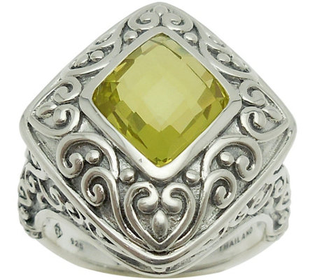 Elyse Ryan Sterling Silver 3.00 cttw Lemon Quartz Ring