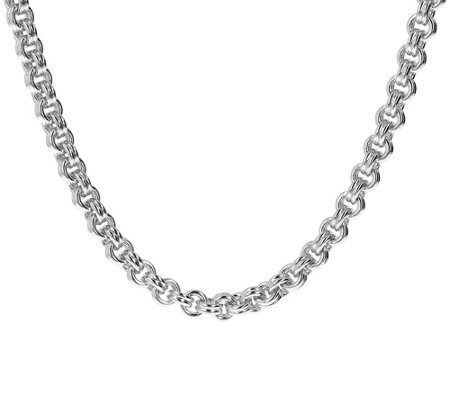 "Oro Nuovo 20"" Double Rolo Link Necklace w/ Magnetic Clasp, 14K"