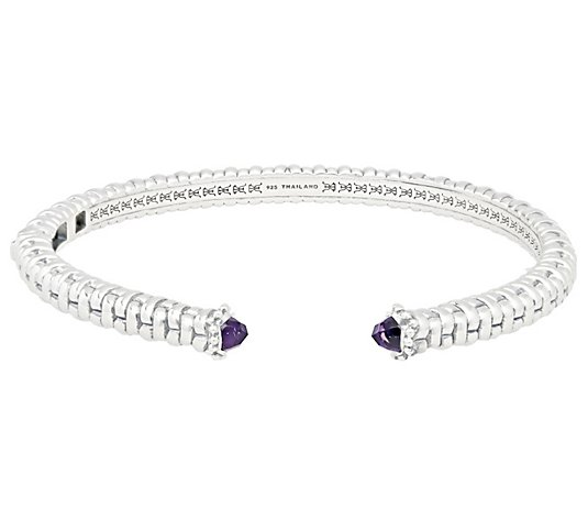 Tiffany Kay Studio Elite Amethyst Hinged Cuff