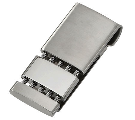 Steel by Design Men's Twisted Rope Accent MoneyClip