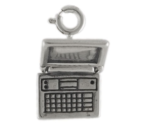Sterling Laptop Computer Charm