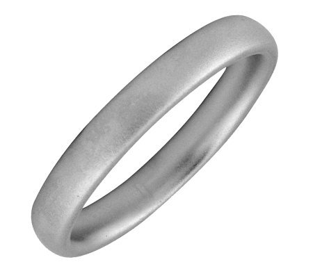Simply Stacks Sterling Black Rhodium-Plated 3.25mm Ring