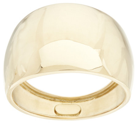 Vicenza Gold Polished Graduated Band Ring 18K Gold