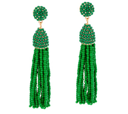 BaubleBar Beaded Pinata Tassel Drop Earrings