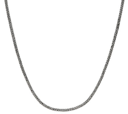 "Artisan Crafted Sterling Silver 32"" Tulang Naga Chain Necklace, 31.0g"