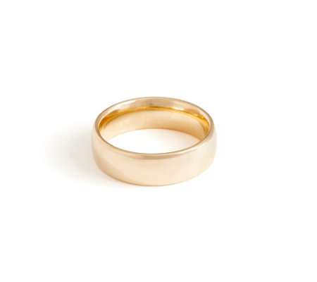 Italian Gold Polished Band Ring 14K Gold