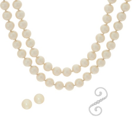 "Carolee Downtown Drama 70"" Simulated Pearl Rope Necklace Set"