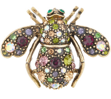 Joan Rivers Vintage Inspired Jeweled Garden Bee Pin