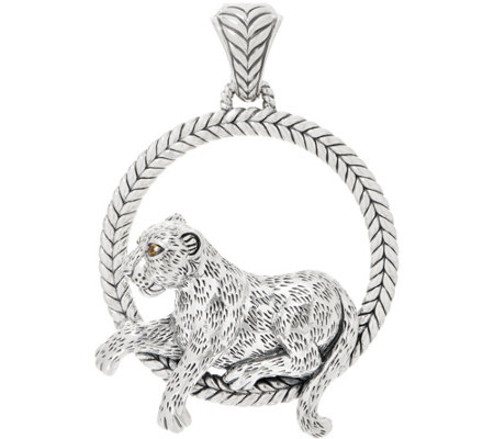 Jai Sterling Silver Lounging Leo Enhancer 41 5g