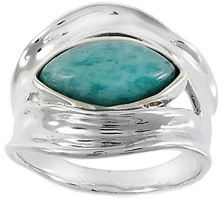 Hagit Sterling & Amazonite Ring
