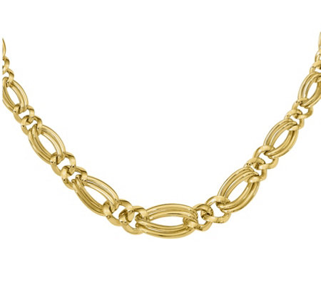 14K Double Curb Link Necklace, 12.0g