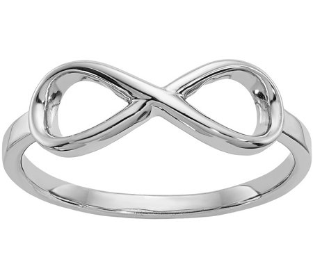 Sterling Polished Infinity Ring