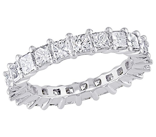 Affinity 18K 2-9/10 cttw Princess Diamond Eternity Band Ring