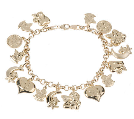 7 1 4 Angel Charm Bracelet 14k Gold