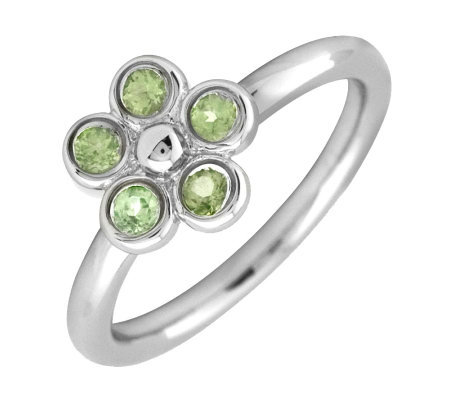 Simply Stacks Sterling Peridot Sweet Flower Ring