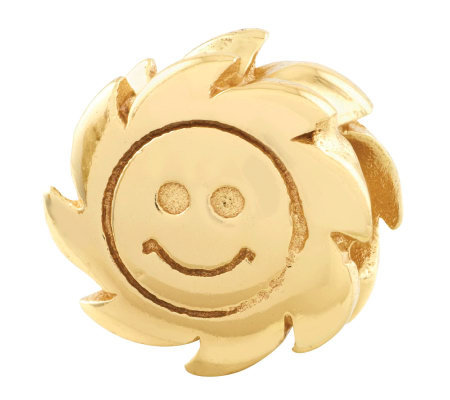 Prerogatives 14K Yellow Gold-Plated Sterling Smiling Sun Bead