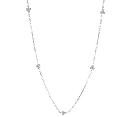 "Judith Ripka Sterling 20"" Diamonique Cherry Station Necklace"
