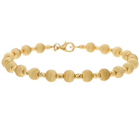 Arte d'Oro Large Satin Finish Bead Bracelet 18K, 6.6g