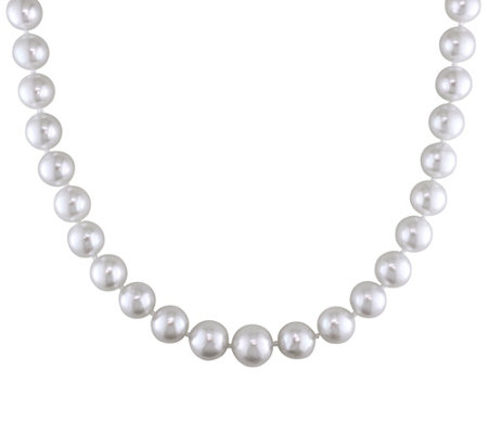 Graduated Cultured South Sea Pearl Semi-Round Necklace, 14K