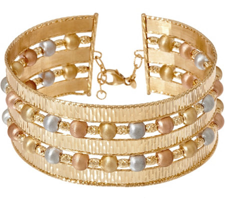 Arte d' Oro Average Multi-Row Cuff Bracelet 18K Gold, 27.0g