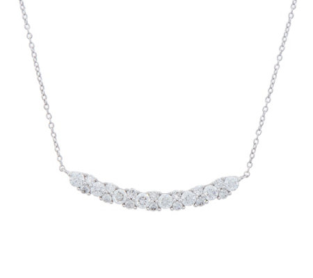 Diamond Garland Station Necklace, 1.00cttw, 14K, by Affinity