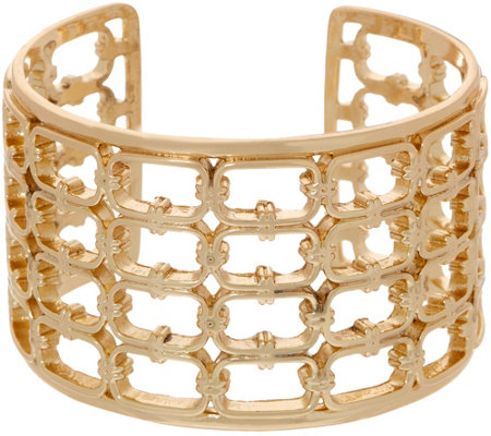 BROOKE SHIELDS Timeless Hexagon Link Detail Cuff Bracelet