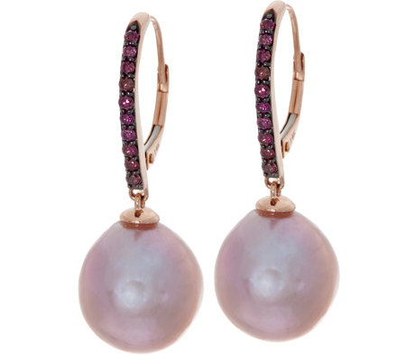 """As Is"" Honora Cultured Pearl & Diamond Drop Earrings, 14K Gold"