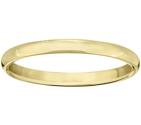 Women's 18K Yellow Gold 2.5mm Half Round Wedding Band