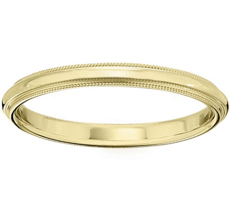 Women's 14K Yellow Gold 2.5mm Milgrain WeddingBand