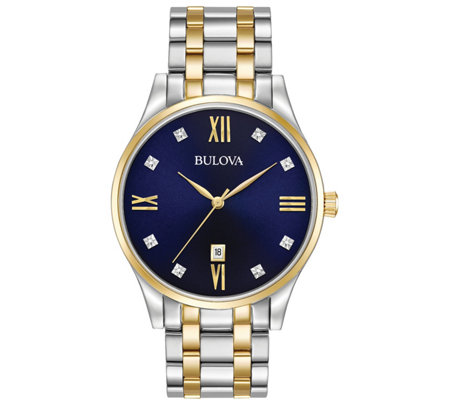 Bulova Men's Stainless Two-Tone Diamond AccentBracelet Watch