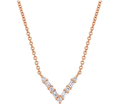 Affinity 1/7 cttw Diamond Necklace, 14K
