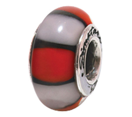 Prerogatives Sterling Red and White Glass Bead
