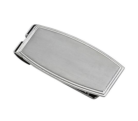 Steel by Design Men's Rectangular Money Clip