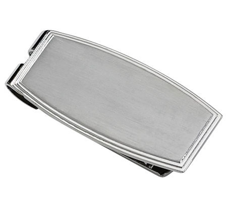 Forza Stainless Steel Rectangular Money Clip