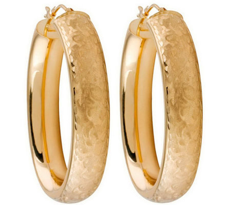 Arte d'Oro Arabesque Oval Hoop Earrings, 18K Gold