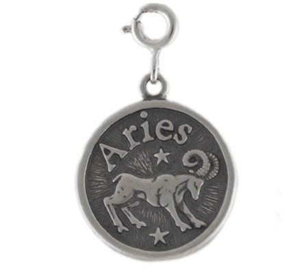 Sterling Zodiac Aries Charm