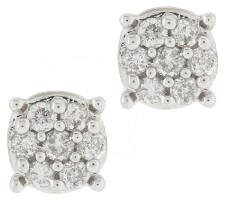 Diamond Round Cer Stud Earrings Sterling 1 2 Ct Tw By Affinity